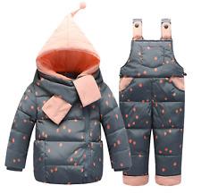 2017 Children Down Clothing Sets 2 PCS Coat+Trousers Winter Kids Down Suit 3T-4T