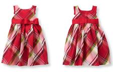 Janie and Jack Red Plaid Photo Holiday 100% silk Dress, Size 6 & 7  ~NWT~