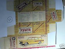 REFABRICATION BOITE SIMCA MARLY AMBULANCE NOREV 1959