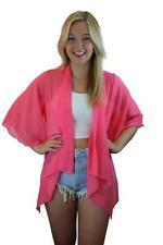 New Womens Sheer Chiffon floaty loose Waterfall Marbella Summer Kaftan Kimono
