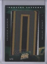 2011-12 Panini Prime Genuine Marks Letter Patches #8 Brenden Morrow Dallas Stars