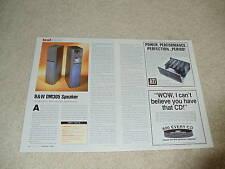 B&w DM305 Lautsprecher Review, 1998, 2 PGS, volle Test