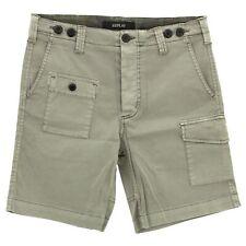 22121 REPLAY Herren kurze Jeans Hose Shorts Cargo M9472A Stretch graubraun silk