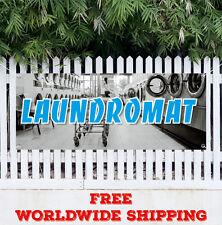 Laundromat Advertising Vinyl Banner Flag Sign Many Sizes Wash Fold Coin Laundry