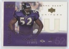 2001 Upper Deck Game Gear Uniforms RL-U Ray Lewis Baltimore Ravens Football Card