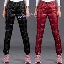 Fashion Women's Down Pants Warm Slim Casual Trousers Outdoor Winter Cotton Pants