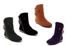 Botines botas zapatos de tacón mujer 1.5 cm mode como piel cómodo 9018