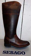 Ladies Sebago Nashboa Rider Brown Leather Knee High Boots
