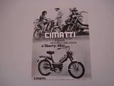 advertising Pubblicità 1971 CIMATTI LIBERTY 48 cc