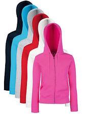 Ladies Womens Womans Full Zip Hooded Zip Sweatshirt Jacket Hoodie