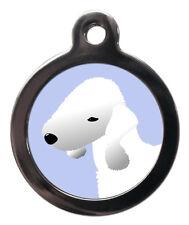 Bedlington Terrier Breed Custom Pet Tags - Dog ID Collar Tag -Personalised FREE