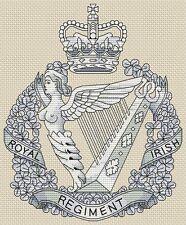"""Royal Irish Regiment Army Cross Stitch Design (6.1x8"""", 16x20cm,kit or chart)"""