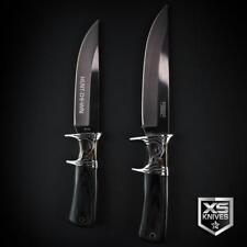 "BLACK Wood ORNATE Survival SUB HILT Hunting Combat Knife 10"" & 12"" + SHEATH"