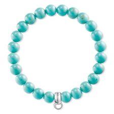 Genuine Thomas Sabo Charm Club Turquoise Stretch Bracelet CX0213
