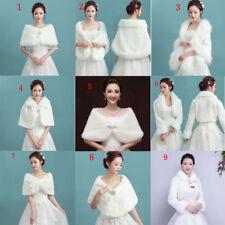 Faux Fur Wrap Bridal Bolero Warm Shawl PARTY Women's Shrug Stole Jacket