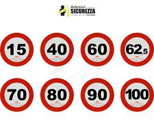 tutti contrassegni adesivi rifrangente limite di velocità omologato EU classe 2