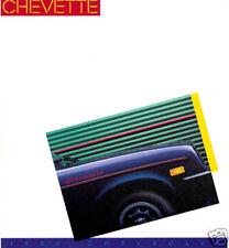 1986 CHEVROLET CHEVY CHEVETTE S SALES BROCHURE CATALOG