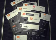 "JBL L100, Century, L300, Summit, L65, Jubal ALUMINUM!  ""Foilcal"" Labels New!"