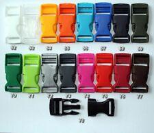 (0,67 EUR/Stück) 10 Steckschnalle 20mm in 17 Farben Steckschließer für Gurtband