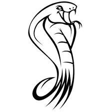 Sticker Décoration Murale, Voiture Animal Serpent Cobra (20x10 cm à 60x30 cm)