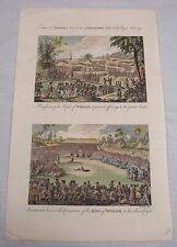 1790 Antique Print/SCENES in WHIDAH, COASTAL AFRICA/p87