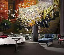 3D Auto Banconote Parete Murale Foto Carta da parati immagine sfondo muro stampa