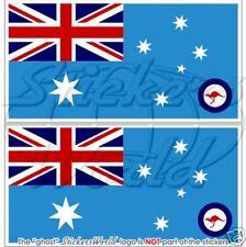 AUSTRALIEN Luftwaffe Flagge AUSTRALISCHE Fahne Sticker 130mm Vinyl Aufkleber x2