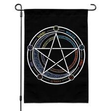Pentagram Pentacle Star Wiccan Witch Garden Yard Flag