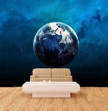 3D Blue Whole Earth Wall Murals Wallpaper Decal Decor Home Kids Nursery Mural