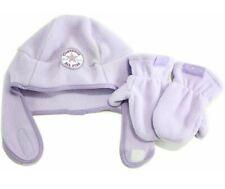Converse All Star Toddler Girl's 2/4T Fleece Trapper Beanie Hat & Mittens Set