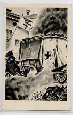 APOLLONI Medico Italiano in Guerra Ambulanza a Cavalli Croce Rossa PC Circa 1937
