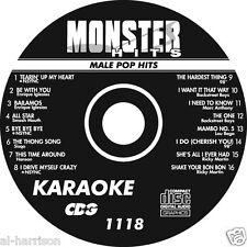 KARAOKE MONSTER HITS CD+G MALE POP HITS #1118