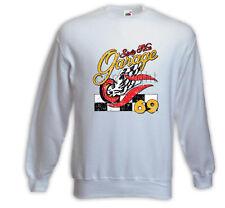 Hot Rod  Pullover Sixty Nine Garage weiß Rockabilly Tattoo Pinup Zündkerze