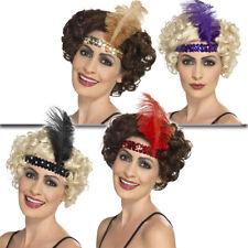 20 ANNI Ornamento per testa Charleston fascia-capelli con piuma Gatsby