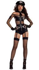 Sexy Starline Midnight Shift Officer Police Cop Black Bodysuit Costume S7024