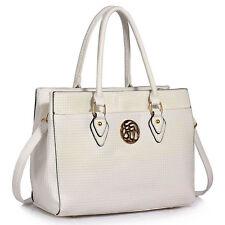 Women's Designer Handbag Ladies Celebrity Style Faux Leather Tote Shoulder Bag