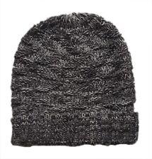 ZARA Boy Knitted GREY Marl Striped Ribbed Winter Beanie Fairisle Hat UK S