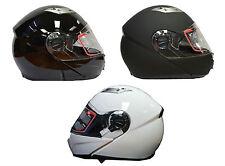 RKS Flip Inner Sun Visor Motorcycle Motorbike Scooter Crash Helmet Black White