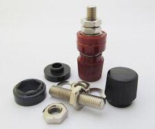 50pcs 80A Power Amplifier AC Power Binding Post M8x58mm Red & Black 555#