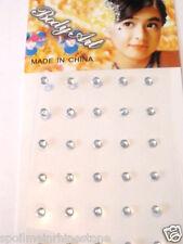 Rhinestone Body Dot jewel Bindi Tattoo 30 or 60 Pcs clear star heart flower