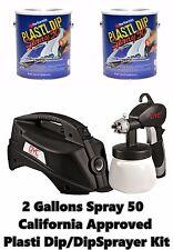 Plasti Dip Spray 50 Low VOC 2 Gallon + DYC DipSprayer System Bundle Kit Free S/H