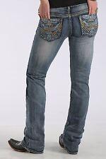 CRUEL GIRL Blake Lace Sugar Skull Pocket Low Rise Boot Cut Jeans CB40054071 NWT