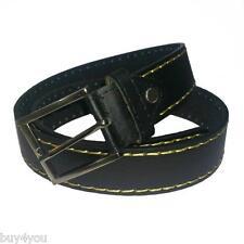 Cinturón Fashion Mujer Hombre Cuero Pantalones Vaqueros Cintura Traje Negro
