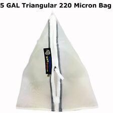 BUBBLEBAGDUDE 5 Gallon Triangular 220 Micron Zipper Bag for 5 Gallon Bubble Mach