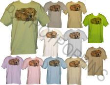 1-GOLDEN MORNING GOLD RETREIVER PET PORTRAIT DOG LOVER TEE-SHIRT GRAPHIC PRINTED