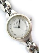 GUESS SILVER Tone Chain Bracelet Womens Ladies Metal Wristwatch WATCH