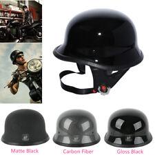 DOT Motorcycle German Style Half Helmet Open Face For Cruiser Chopper M L XL