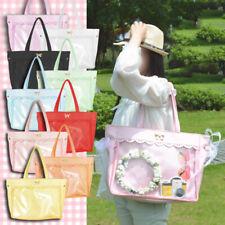 Girl's Transparent Clear Handbags Lace Bow Lolita Shoulder Bag Ita Bag Cosplay