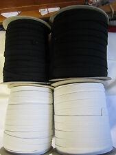 (0,69 € Meter)  10 m Gummiband Breite 1 cm & 1,5 cm  Schwarz oder Weiß Auswahl