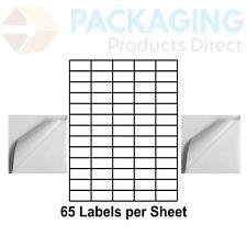 65 Per Sheet Printable A4 Self Adhesive Address Labels for Inkjet/Laser Printer